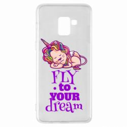 Чохол для Samsung A8+ 2018 Fly to your dream and lion