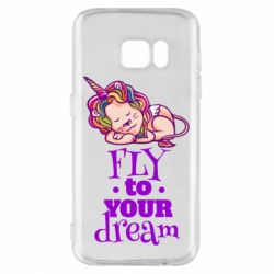 Чохол для Samsung S7 Fly to your dream and lion