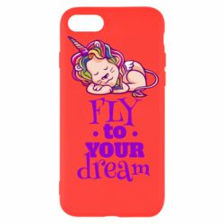 Чохол для iPhone 8 Fly to your dream and lion