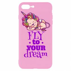 Чохол для iPhone 8 Plus Fly to your dream and lion