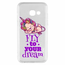 Чохол для Samsung A3 2017 Fly to your dream and lion