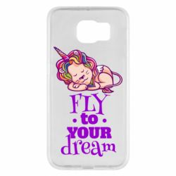 Чохол для Samsung S6 Fly to your dream and lion
