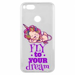 Чохол для Xiaomi Mi A1 Fly to your dream and lion