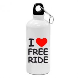 Фляга I love free ride - FatLine