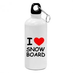 Фляга I love Snow Board - FatLine