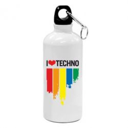 Фляга I love techno - FatLine
