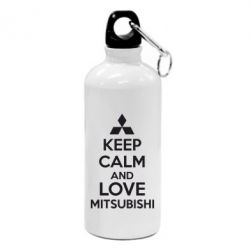 Фляга Keep calm an love mitsubishi - FatLine