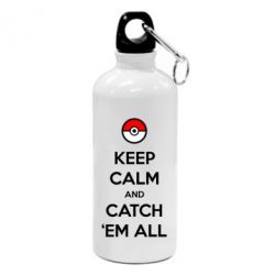 Фляга Keep Calm and Catch 'em all!