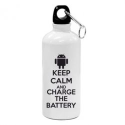Фляга KEEP CALM and CHARGE BATTERY - FatLine