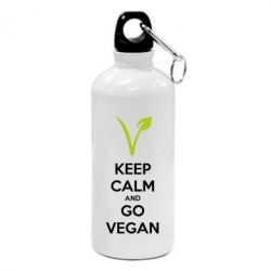 Фляга Keep calm and go vegan
