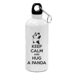 Фляга KEEP CALM and HUG A PANDA