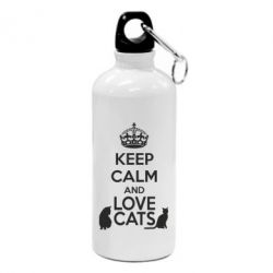 Фляга KEEP CALM and LOVE CATS - FatLine