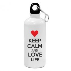 Фляга KEEP CALM and LOVE LIFE - FatLine