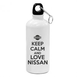 Фляга Keep calm and love Nissan - FatLine