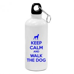 Фляга KEEP CALM and WALK THE DOG