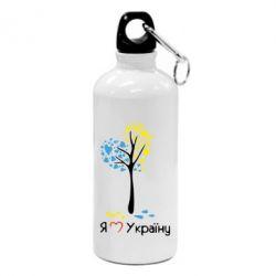 Фляга Я люблю Україну дерево