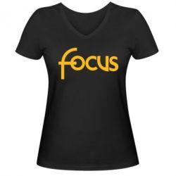 Женская футболка с V-образным вырезом Focus - FatLine
