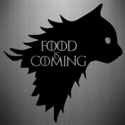 Наклейка Food is coming