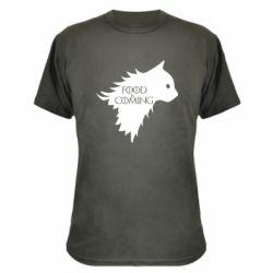 Камуфляжная футболка Food is coming