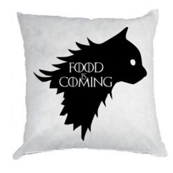 Подушка Food is coming