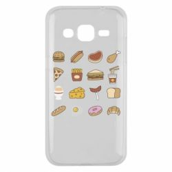 Чехол для Samsung J2 2015 Food