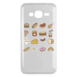 Чехол для Samsung J3 2016 Food