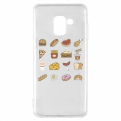 Чехол для Samsung A8 2018 Food