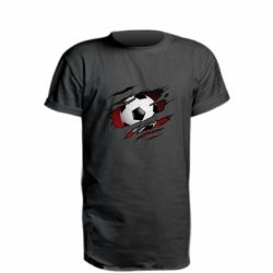 Подовжена футболка Football ball  through the T-Shirt
