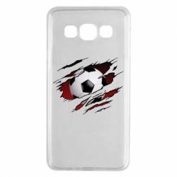 Чохол для Samsung A3 2015 Football ball  through the T-Shirt