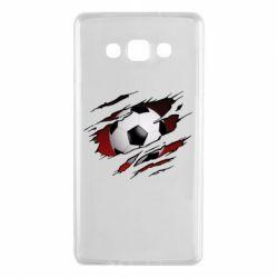 Чохол для Samsung A7 2015 Football ball  through the T-Shirt