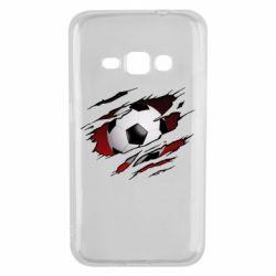 Чохол для Samsung J1 2016 Football ball  through the T-Shirt