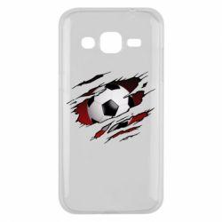 Чохол для Samsung J2 2015 Football ball  through the T-Shirt