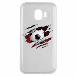 Чохол для Samsung J2 2018 Football ball  through the T-Shirt