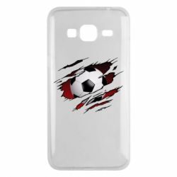 Чохол для Samsung J3 2016 Football ball  through the T-Shirt