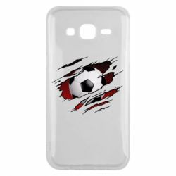 Чохол для Samsung J5 2015 Football ball  through the T-Shirt