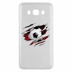 Чохол для Samsung J5 2016 Football ball  through the T-Shirt