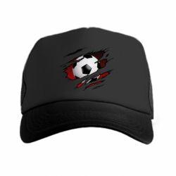 Кепка-тракер Football ball  through the T-Shirt