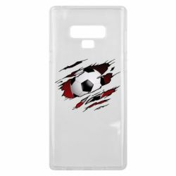 Чохол для Samsung Note 9 Football ball  through the T-Shirt