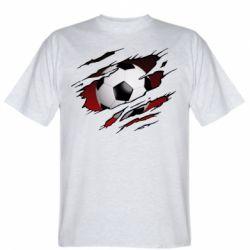 Чоловіча футболка Football ball  through the T-Shirt