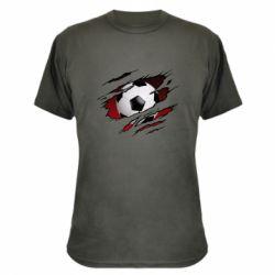 Камуфляжна футболка Football ball  through the T-Shirt