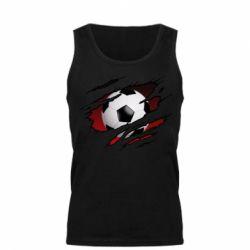 Майка чоловіча Football ball  through the T-Shirt