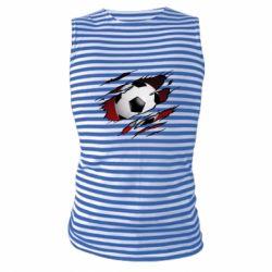 Майка-тільняшка Football ball  through the T-Shirt