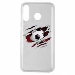Чохол для Samsung M30 Football ball  through the T-Shirt