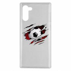 Чохол для Samsung Note 10 Football ball  through the T-Shirt
