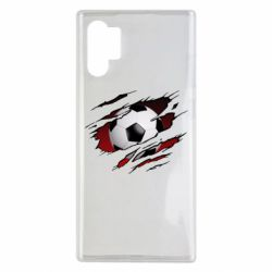 Чохол для Samsung Note 10 Plus Football ball  through the T-Shirt