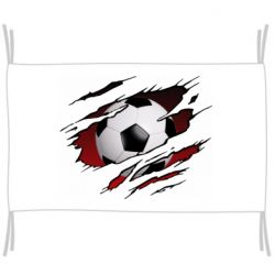 Прапор Football ball  through the T-Shirt