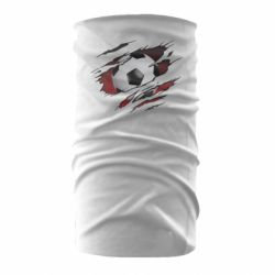 Бандана-труба Football ball  through the T-Shirt