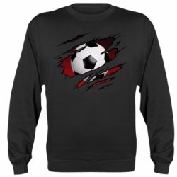 Реглан (світшот) Football ball  through the T-Shirt