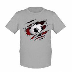 Дитяча футболка Football ball  through the T-Shirt