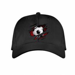 Дитяча кепка Football ball  through the T-Shirt